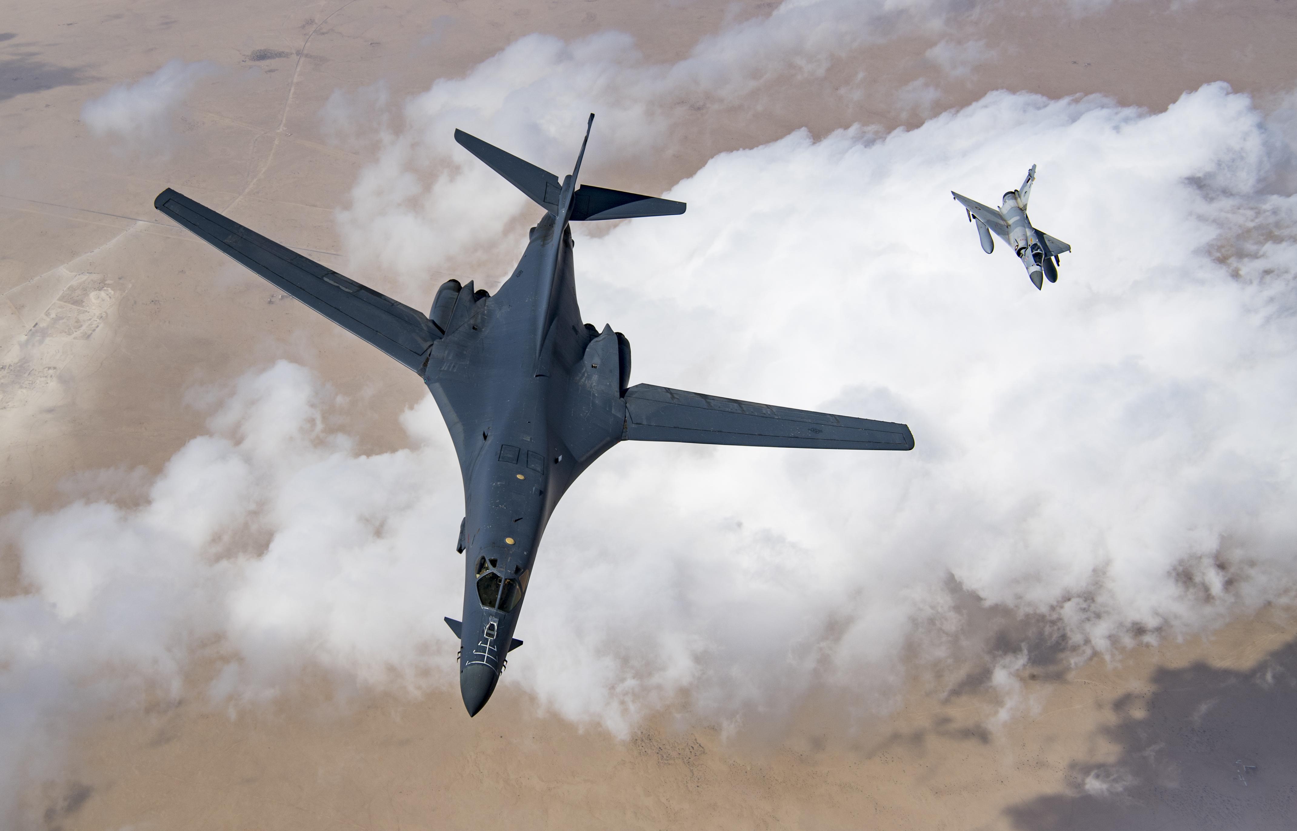 USAF B-1B and Qatari Mirage 2000-5 [USAF/ Staff Sgt Clayton Cupit]