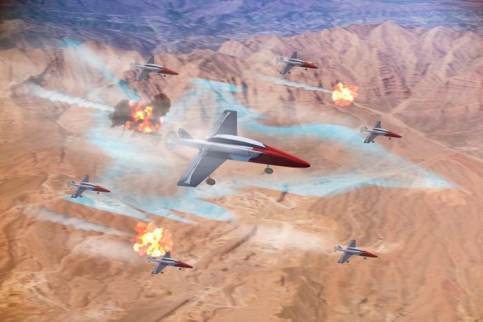 Leonardo/RAF RCO Drone Swarming Demo [Leonardo]
