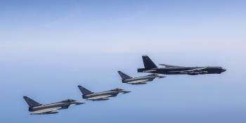 Typhoons fly with B-52